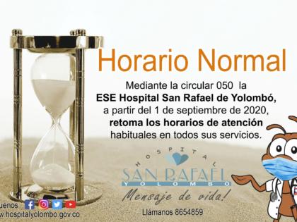 Horario normal