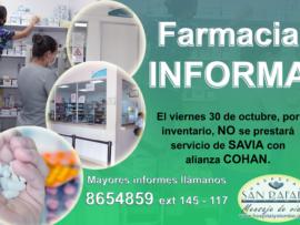 Farmacia informa