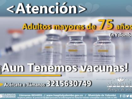 Aun tenemos vacunas