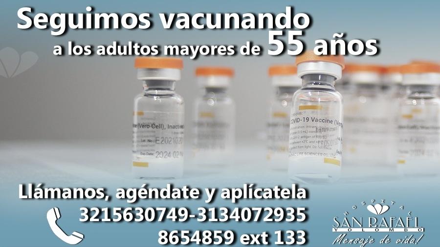 foto destacada Plan Vacunación mayores 55